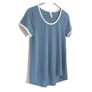 Lularoe blue and white tee